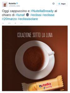 Nutella #eclissi social