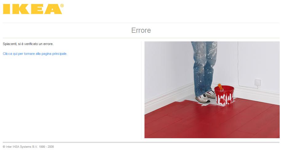 Pagina 404 creativa IKEA