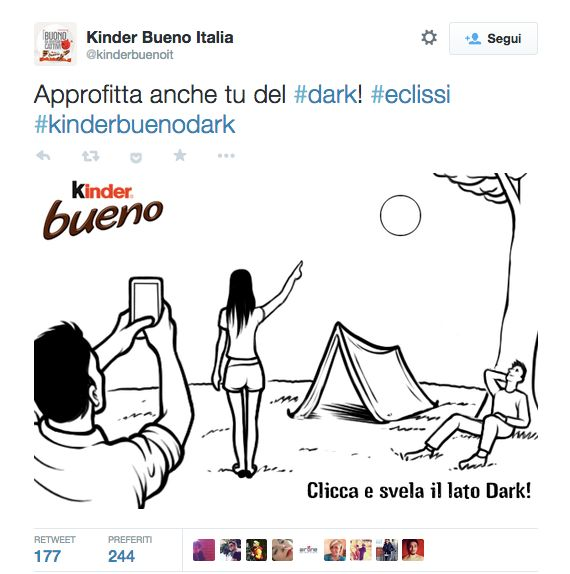 Kinder Bueno Dark - tweet #eclissi