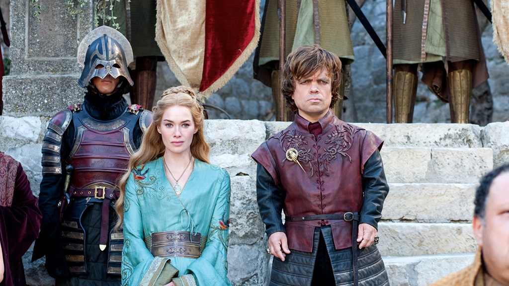 Peter Dinklage e Lena Headey  nei panni  di Cersei Lannister e Tyrion Lannister