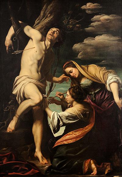 Vouet - San Sebastiano curato dalle pie donne