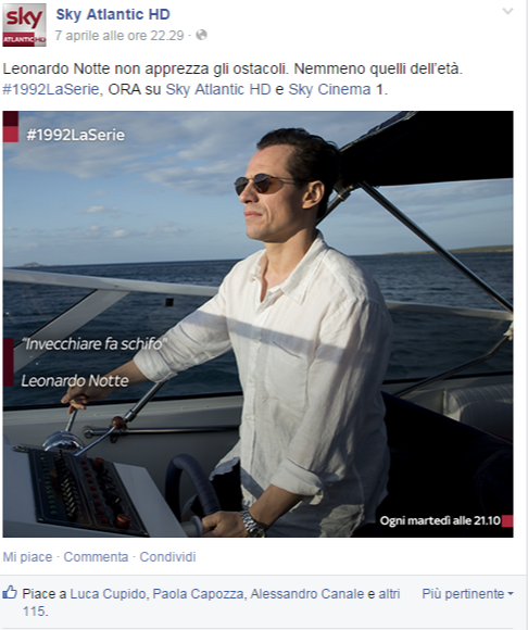 Sky Atlantic HD su Facebook