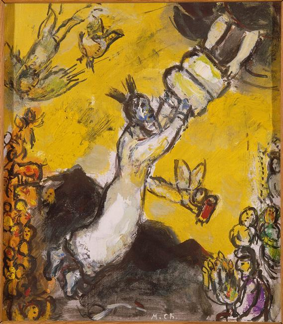 Marc Chagall-Moses-receiving the Tablets of Law