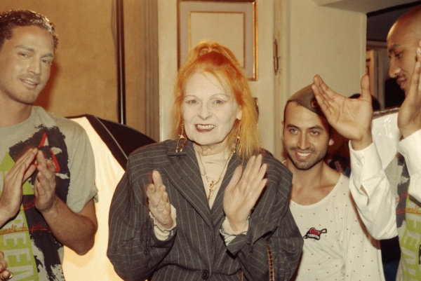 Peppe Lorefice accanto a Vivienne Westwood