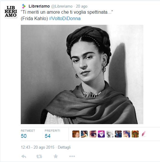 Foto Frida Kahlo di Libreriamo  @Libreriamo da Twitter