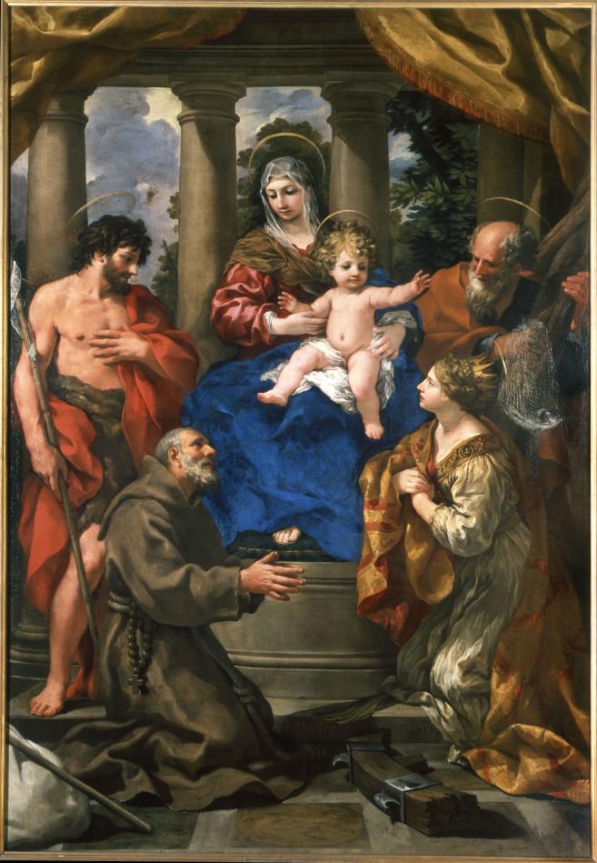 Pietro da Cortona_Madonna con Bambino e santi