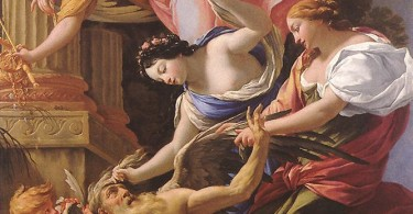 Simon Vouet_Saturn, conquered by Amor, Venus and Hope