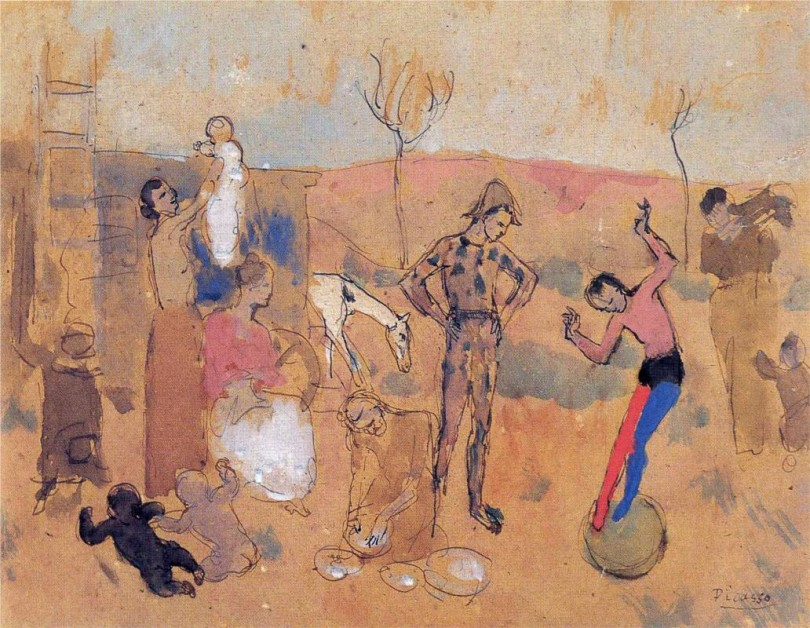 Pablo Picasso_Family of jugglers