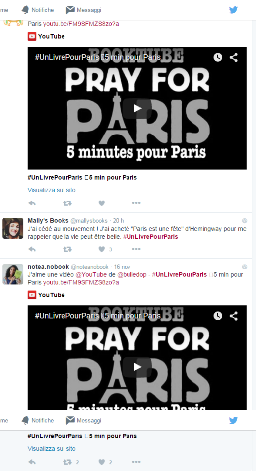 #unlivrepourparis twitter